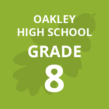Oakley High School grade eight school books