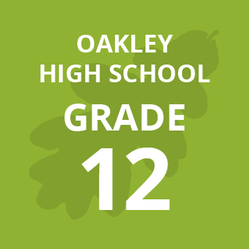Oakley High School grade twelve school books