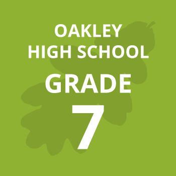 Oakley High School grade seven school books